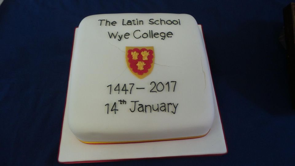 The 2017 cake to celebrate the 570 year since the signing of the college statutes in 1447